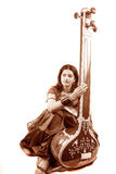 Classic Indian Singer Stock Photography