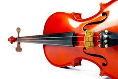 Classic instrument, Violin isolated Royalty Free Stock Images