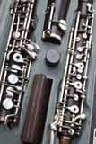 Classic instruments - oboe details stock photo