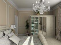 Classic interior. 3D render royalty free illustration