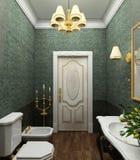 Classic interior. 3D render Stock Images
