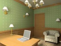 Classic interior. 3D render Stock Image
