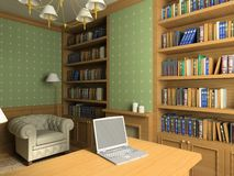 Classic interior. 3D render Royalty Free Stock Photos