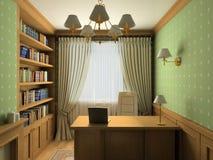 Classic interior. 3D render vector illustration