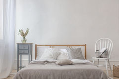 Classic interior of bedroom Royalty Free Stock Images