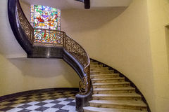 Classic interior. Classic building interior detail with luxurious decorations Stock Photos