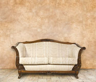 Classic interior with free wall space Stock Images