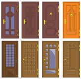 Classic interior and front wooden doors - vector Royalty Free Stock Images
