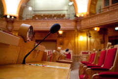 A classic interior of parliament Royalty Free Stock Images