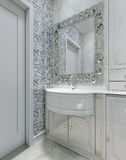 Classic interior toilet Stock Images