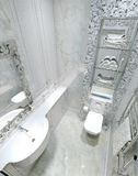 Classic interior toilet Royalty Free Stock Images