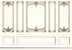 Classic interior wall with mouldings Stock Photography