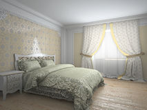 Classic interior in warm tones 3d rendering Stock Photography