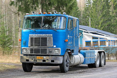 Classic International Eagle 9670 Cab Over Truck Parked stock images