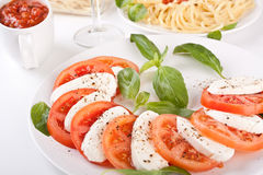 Classic Italian Caprese Salad Royalty Free Stock Images