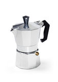 Classic italian coffee maker. Isolated on white background with clipping path Royalty Free Stock Image