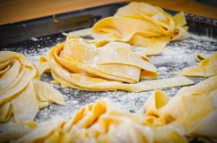 Classic Italian Pappardelle Pasta royalty free stock photography