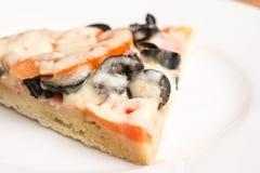 Classic Italian Pizza Slice Stock Images