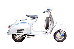 Classic Italian scooter as Silhouette Stock Images