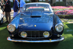 Classic italian sports car frontal view Stock Image