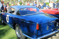 Classic italian sports car side rear view Royalty Free Stock Photos