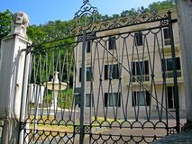 Classic Italian Villa gates royalty free stock photography
