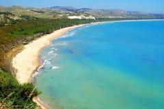 Classic Italy - Sicily, coast at Eraclea. Classic Italy - Sicily, coast near Eraclea city royalty free stock photos