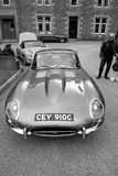 Classic Jaguar E Type coupe Stock Photo