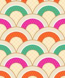 Classic japanese scallop wave pattern royalty free illustration