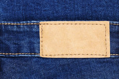 Classic jeans label leather for pattern and design Stock Images