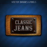 Classic jeans label Stock Images