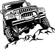 Classic Jeep Illustration. A vector illustration of a classic Jeep stock illustration