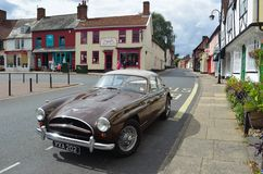 Classic Jensen Car on Woodbridge Market Square. Royalty Free Stock Photos