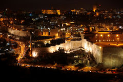Classic Jerusalem - Night In Old City Royalty Free Stock Photography