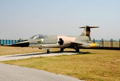 Classic jetfighter. Cold war era jetfighter F-104 Starfighter Stock Image