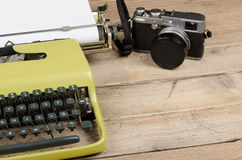 Classic journalist tools still life Royalty Free Stock Photos