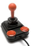 Classic Joystick (Front Side View). A retro joystick isolated on white Royalty Free Stock Image