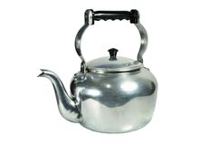 Classic kettle. For camping isolated on white background Stock Photography