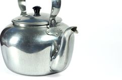 Classic kettle. For camping  on white background Stock Images