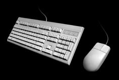 Classic Keyboard and Mouse. Basic Keyboard & Mouse Desktop Set Stock Photos