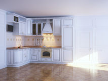 Classic kitchen cabinets Stock Photos