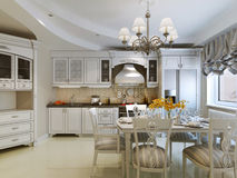 Classic kitchen design Royalty Free Stock Images