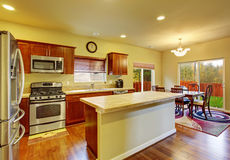 Classic kitchen with hardwood floor. Stock Images