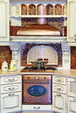 Classic kitchen interior Stock Photos