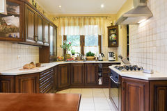 Classic Kitchen Interior Royalty Free Stock Photography