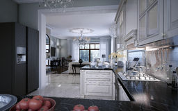 Classic kitchen interior Stock Photo