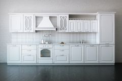 Classic Kitchen In Luxury Apartment Stock Image