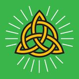 Celtic Infinity Knot Vector Design. Classic knot design symbolizing eternity and symmetry with halo glow lines Stock Images