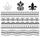 Classic Lace, Damask, and Fleur de lis Stock Photo