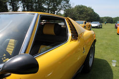 Classic lambo side door window details royalty free stock photo